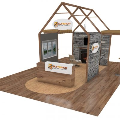 Feel right at home with this trade show booth design